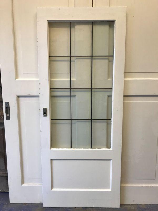 Hedendaags nr. gl300 jaren 30 paneeldeur met glas in lood   Paneeldeuren QS-24