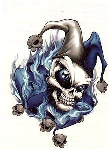 Stunning Joker Skull Tattoo Design