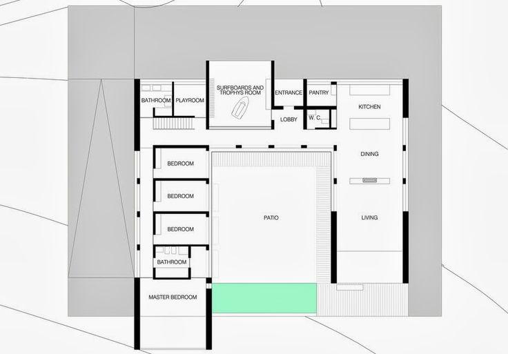 Plano de la casa en forma de u