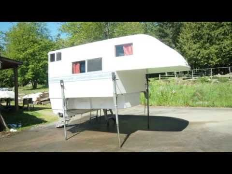 This video gives you a look at how I built my lightweight truck camper. The camper was built with everyday tools most people have. It is a one piece fibergla...