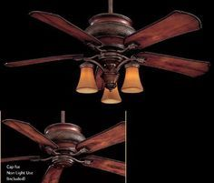 Craftsman 1900 52 Exterior Ceiling Fan w/Light Kit. Love the rustic look for Living room and bedroom