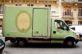 Ladurée: Paris, Mint Green, Inspiration, Things French, Moving Vans, Food Trucks, Glitter Guide, Ladur Trucks, Macaroons