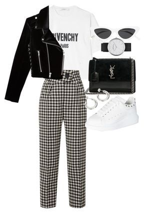 """Untitled #23208"" by florencia95 ❤ liked on Polyvore featuring Givenchy, Marc Jacobs, Petar Petrov, Yves Saint Laurent, Alexander McQueen, Le Specs and The Kooples"
