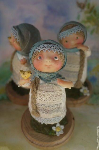 Коллекционные куклы ручной работы. Ярмарка Мастеров - ручная работа. Купить Матрёнка. Handmade. Голубой, русский стиль, девочка