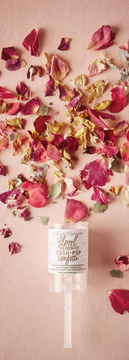 eco-friendly petal push-pop! a sweet alternative to glitter and/or  paper.