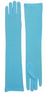 Long Nylon Light Blue Gloves - 353595 | trendyhalloween.com #trendyhalloween #halloweenaccessories