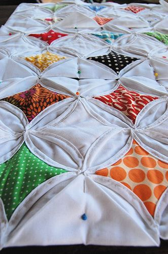 Cathedral Window Quilt : I am MAKING this! I LOVE it! Maybe not so many scattered patterns, but I'll just peruse Hancock and see when jumps out at me.