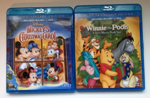 Mickey's Chistmas Carol and Winnie the Pooh A Very Merry Pooh Year - giveaway! #mbsGG