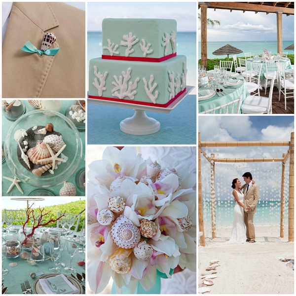 Love The Color Combo For A Beach Wedding From Martha Stewarts Sandals Resort Packages