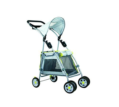 Outward Hound Kyjen  21011 Walk N Roll Pet Stroller Fold Up Stroller For Dogs With Shade Shelter Locking Brakes,Grey. (Small Dogs) *** Read more reviews of the product by visiting the link on the image.