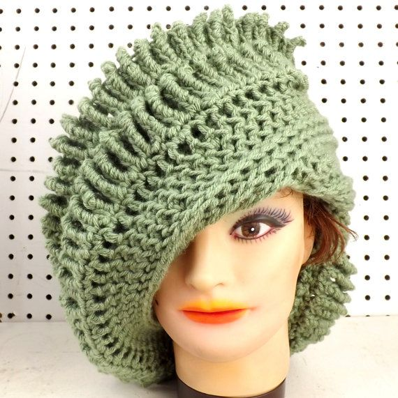 Click #strawberrycouture Light Sage Green Crochet Hat Womens Hat  Womens Crochet Hat  Crochet Hat  Crochet Beanie Hat  Sage Green Hat  Royal Beanie Hat by strawberrycouture