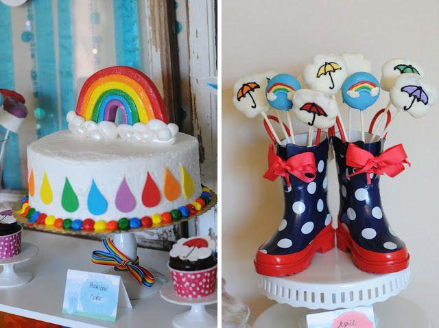 Cumpleaños de lluvia y arcoiris   JER Eventos