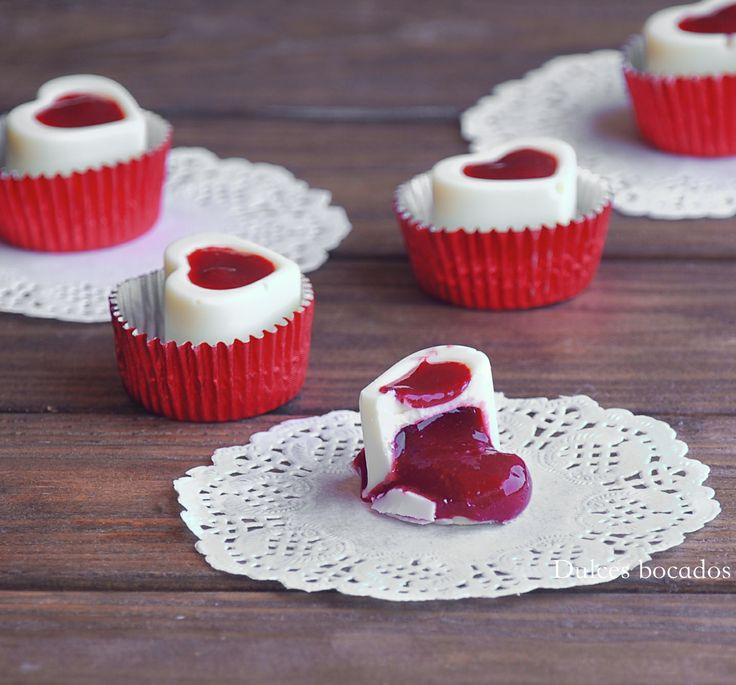 White chocolate raspberry - Bombones rellenos de frambuesa