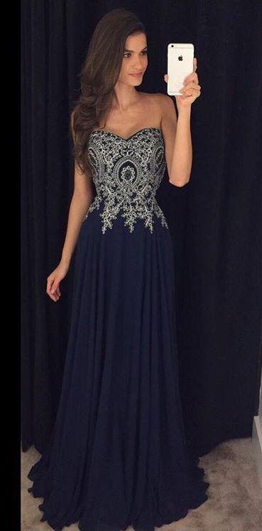 Appliques Prom Dresses, Floor-Length Evening Dresses, Real Made Charming Evening Dresses,XC01