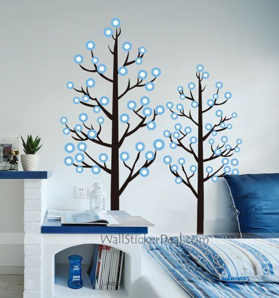 3d Large Size Round Dots Tree Wall Stickers Home Decor: 53 Best Tree Of Life Wall Stickers & Decals Images On