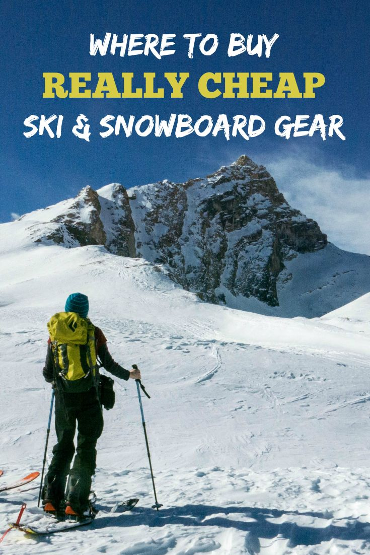 Save $$$ on your outdoor adventures! Where to buy REALLY CHEAP ski & snowboard gear for everyone in your family. Money-saving tips and outlet stores that offer the best deals on ski and snowboard equipment, snowshoes, outdoor clothing, winter jackets, camping gear, and more.