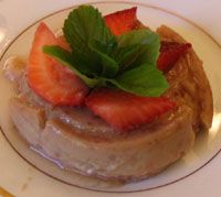 Strawberry Flan Recipe - Flan de Fresas