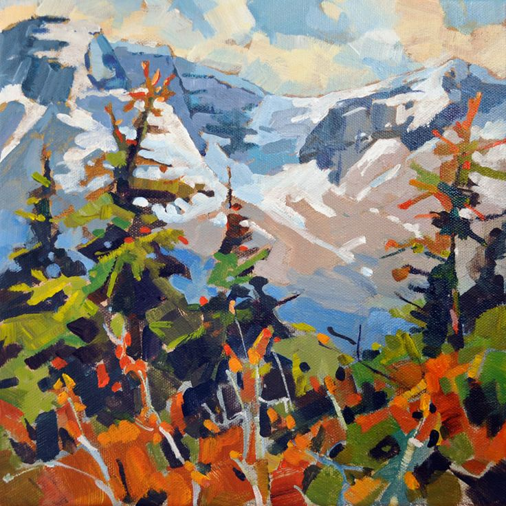 icefields, banff, acrylic painting, landscape painting,