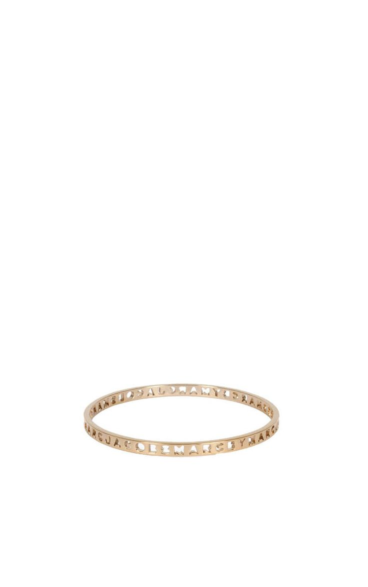 Armband Punched Logo Bangle GOLD - Marc by Marc Jacobs - Designers - Raglady
