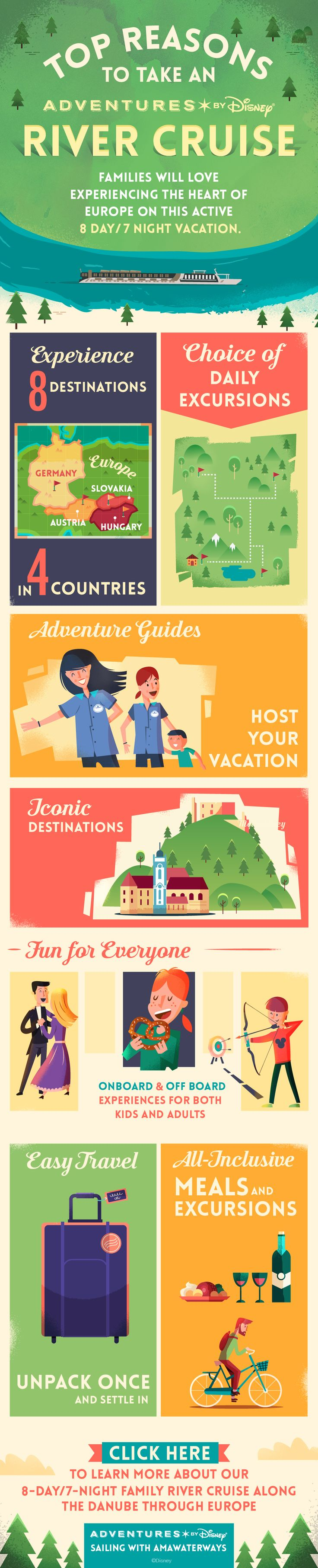 Check out our top reasons to take an Adventures by Disney river cruise with your family during this 8 day / 7 night vacation! Explore eight destinations in four countries on an all-inclusive adventure along the Danube river through Europe!