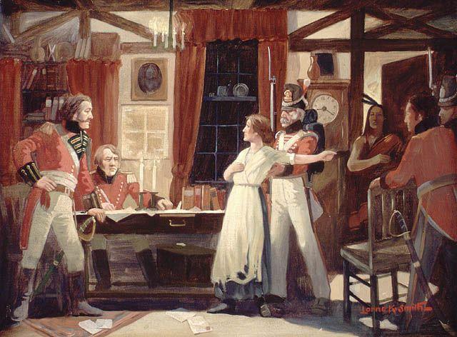 Laura Secord warns Fitzgibbons, 1813 - History of Canada - Wikipedia, the free encyclopedia