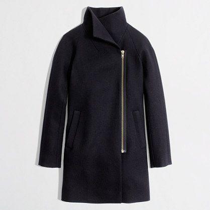 jcrew factory | wool-blend funnelneck coat