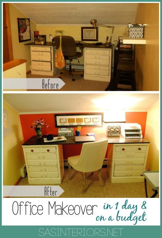 Office Makeover In One Day On A Budget Craft Room