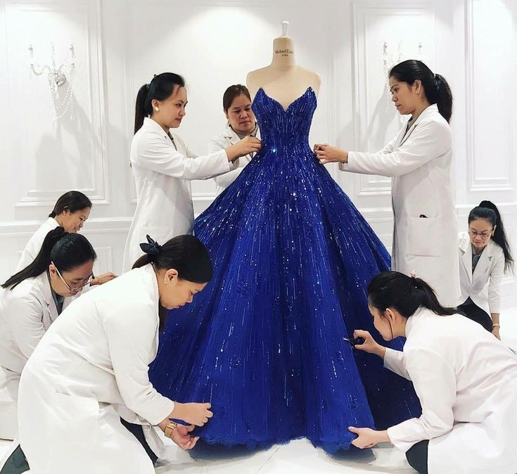 A look inside the atelier of Michael Cinco as the artisans go to work on Pia Wurtzbach Official's blue gown seen at Miss Universe.