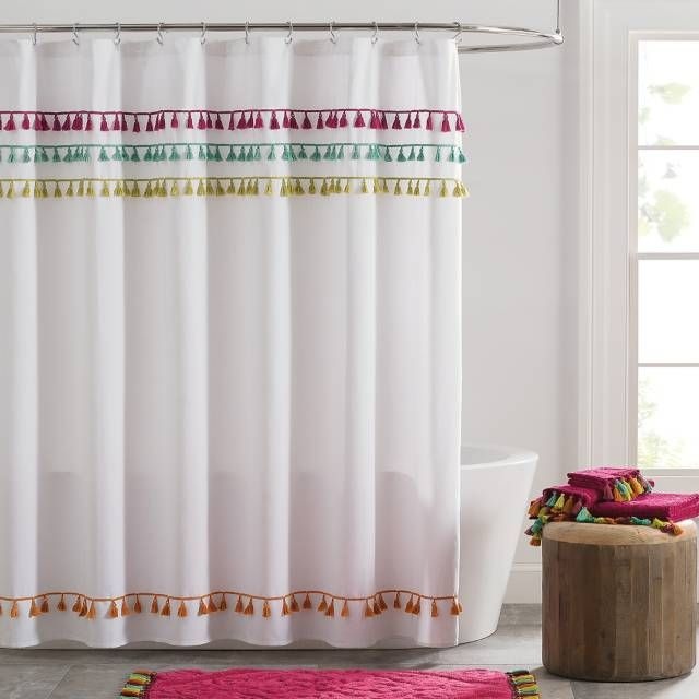 Product Image For Tassels Shower Curtain Bathroom
