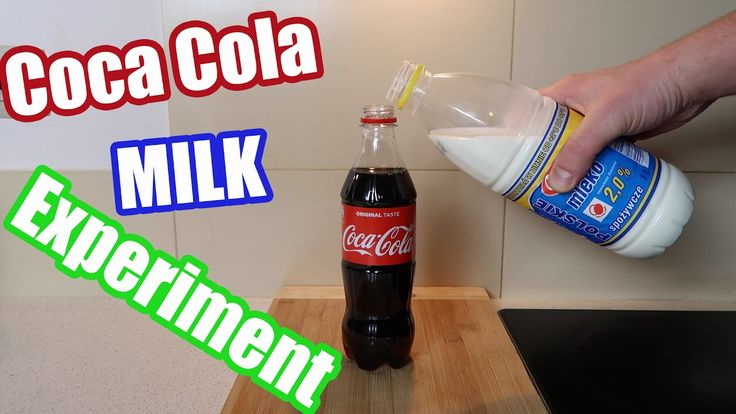 Coca Cola Mixed with Milk Science Experiment at Home