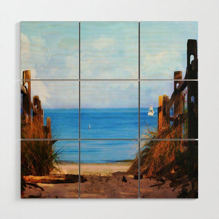 Buy Pathway To The Beach Wood Wall Art By Judypalkimas Worldwide