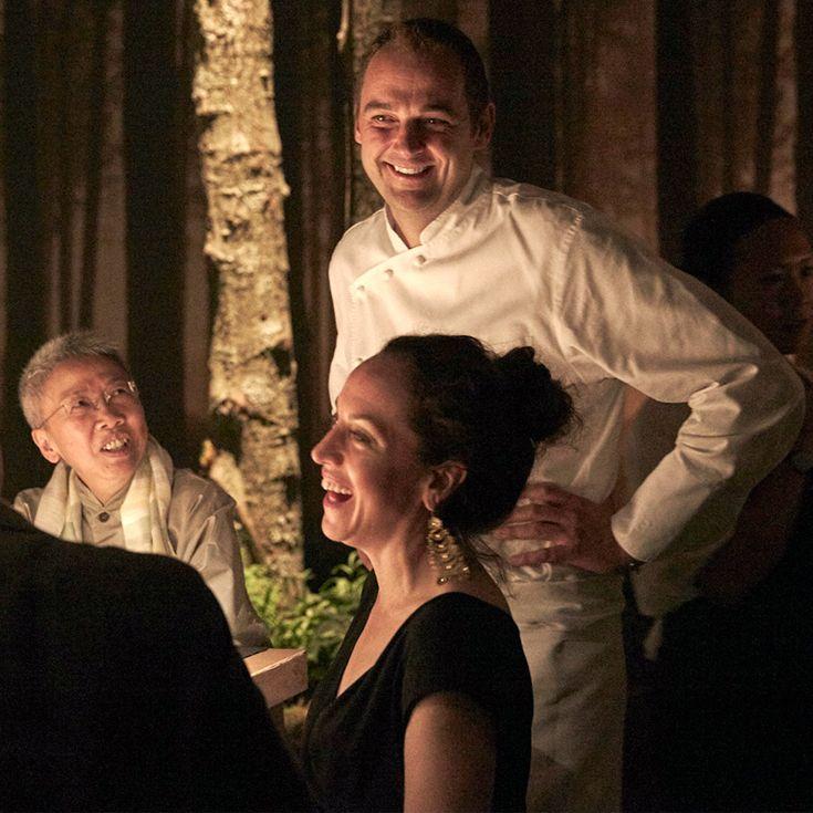 Daniel Humm with guests at Restaurant 1683