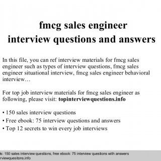 Interview questions and answers – free download/ pdf and ppt file fmcg sales engineer interview questions and answers In this file, you can ref interview ma. http://slidehot.com/resources/fmcg-sales-engineer-interview-questions-and-answers.47061/