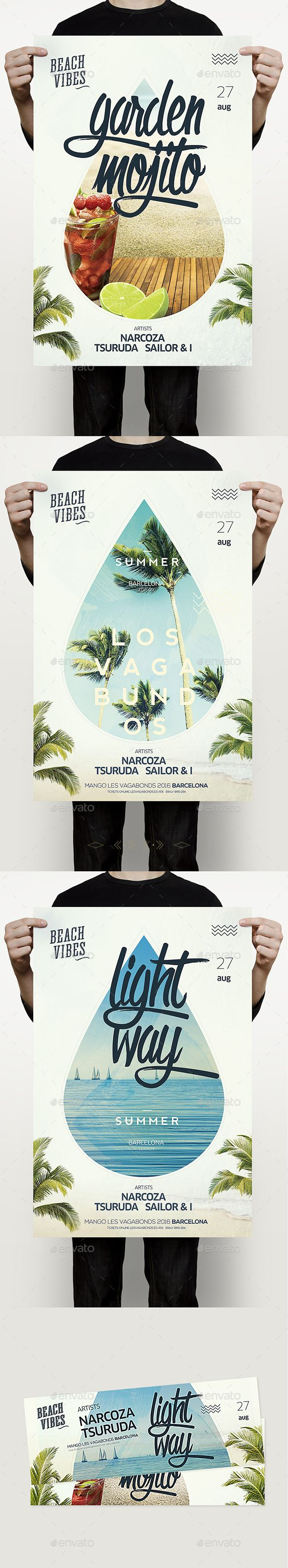 Summer Party  — PSD Template • Only available here ➝…