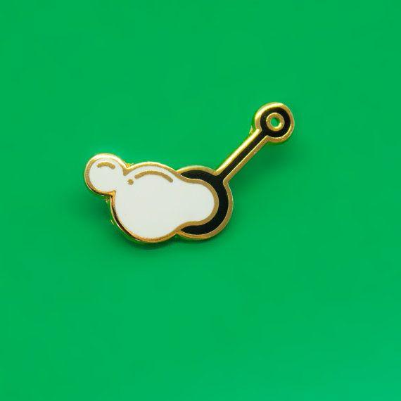 Bubble Blower Enamel Pin by MartaRyczko on Etsy