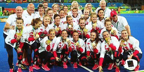 """kemlyn: """" """"Great Britain's women have won a first Olympic hockey gold medal by beating defending champions the Netherlands in a dramatic penalty shootout. The final finished 3-3 in normal time, with..."""
