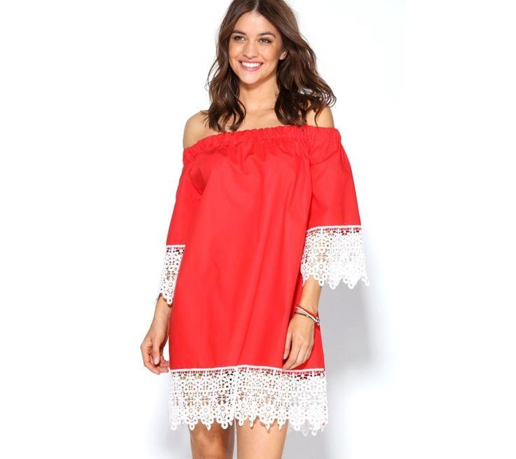Šaty s krátkými rukávy, s krajkou | modino.cz #modino_cz #modino_style #style #fashion #summer #dress