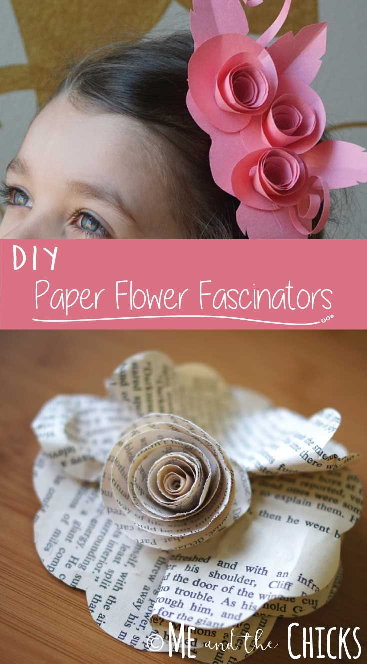 How To Make Paper Flower Fascinators Paper Hat Diy Paper