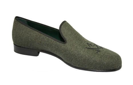 Men's Charcoal Grey Linen slippers with AC by DanielandLade, £180.00