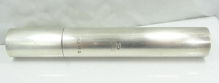 Lot: Tiffany & Co. 1837  Silver Cigar Tube