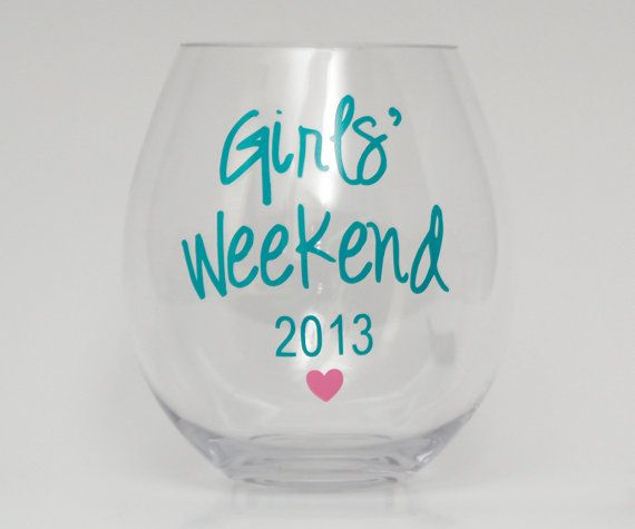 Personalized Wine Glasses Acrylic Cups. Perfect for girls weekend, bachelorette party, bridal party gifts