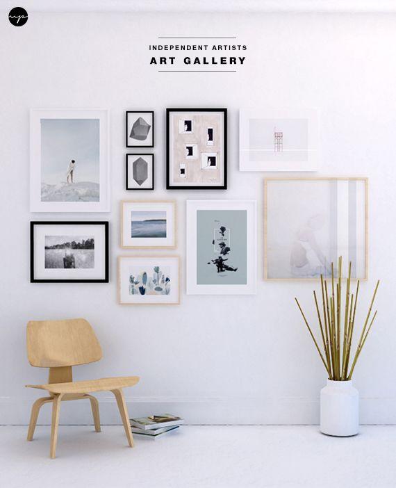 Art gallery wall decor / decorar con cuadros
