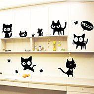 Wall Stickers Vægoverføringsbilleder, sorte katte... – DKK kr. 53