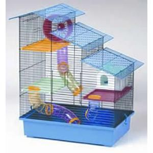 Kensington Large Hamster Cage. This hamster cage comes with all the equipment your hamster will need to be happy. A house, wheel, tubing and platforms.