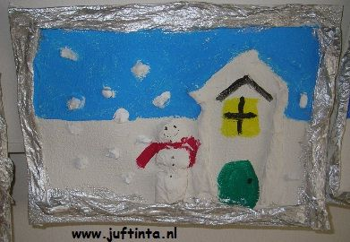 winterlandschap met papier-maché