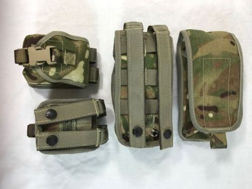 Sets of original British army surplus MTP camouflage pouches