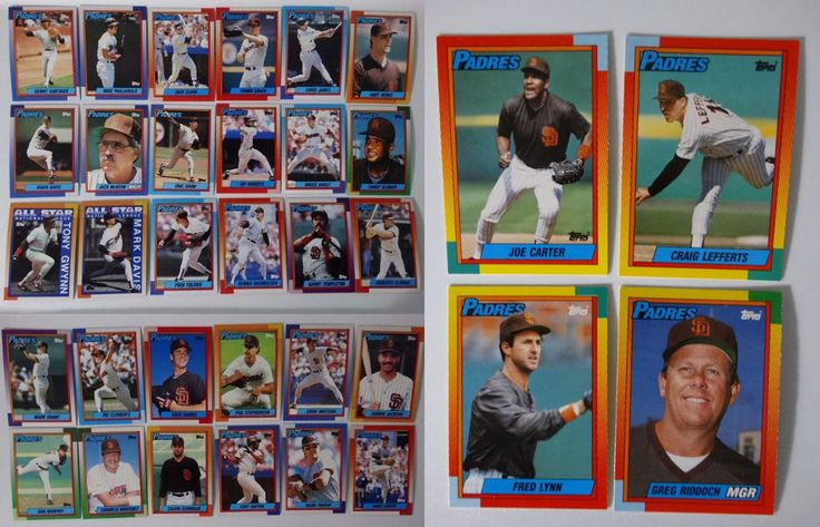 1990 Topps San Diego Padres Team Set of 34 Baseball Cards With Traded #topps #SanDiegoPadres