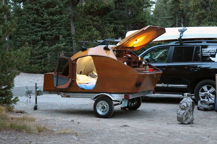CLC Teardrop Camper, Lewis Lake Campgrounds, Yellowstone National Park, WY.