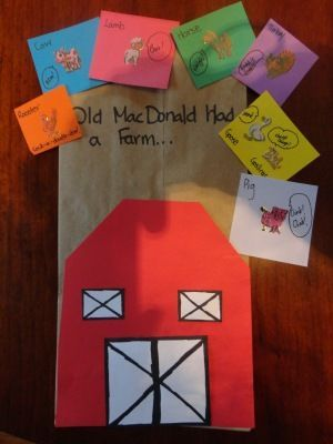 old macdonald had a farm craft - use one during storytime, and then the kids can make their own.great for sequencing