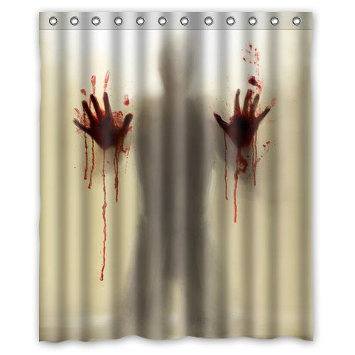 """Spaecial Designed - Mysterious Scary and funny Man Silhouette Shadow 60"""" x 72"""" Polyester Fabric Waterproof Shower Curtain Bathroom Funny Shower Curtains http://www.amazon.com/dp/B00LA6D276/ref=cm_sw_r_pi_dp_D383tb1FHQCD8FQ0"""
